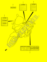 ETIQUETTE CARENAGES/CADRE 650 suzuki-moto V-STROM 2004 DP002073