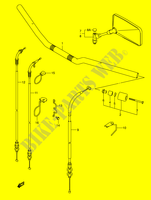 GUIDON (WITH OUT COWLING) SUSPENSIONS/FREINAGE/ROUES 650 suzuki-moto SV 2005 DP024473
